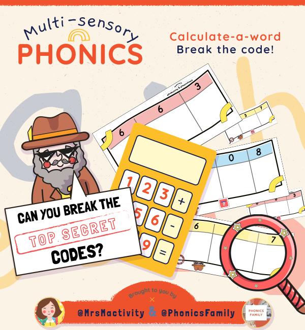 Calculate a Word - Phonics Family Range