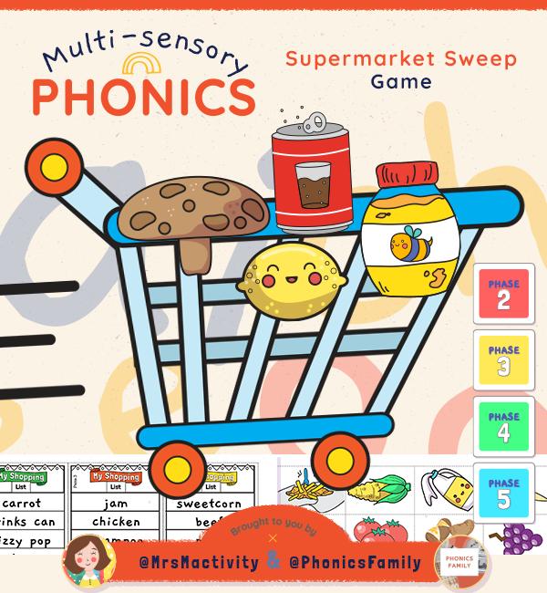 Phonics Supermarket Sweep Game - Phonics Family Range