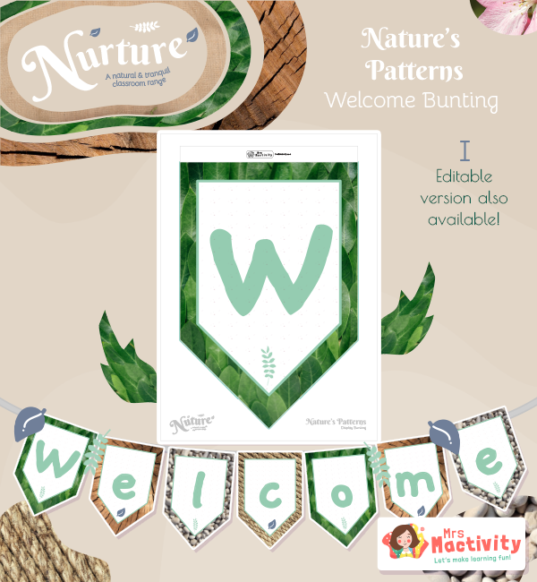 Display Nuture Welcome Bunting Patterns 001 V2