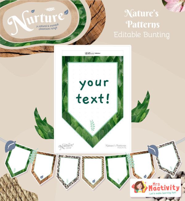 natural display bunting