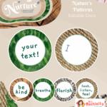 Display Nuture Letter discs Patterns EDITABLE V2 2