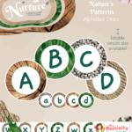Display Nuture Letter discs Patterns All Alphabet 001 V2