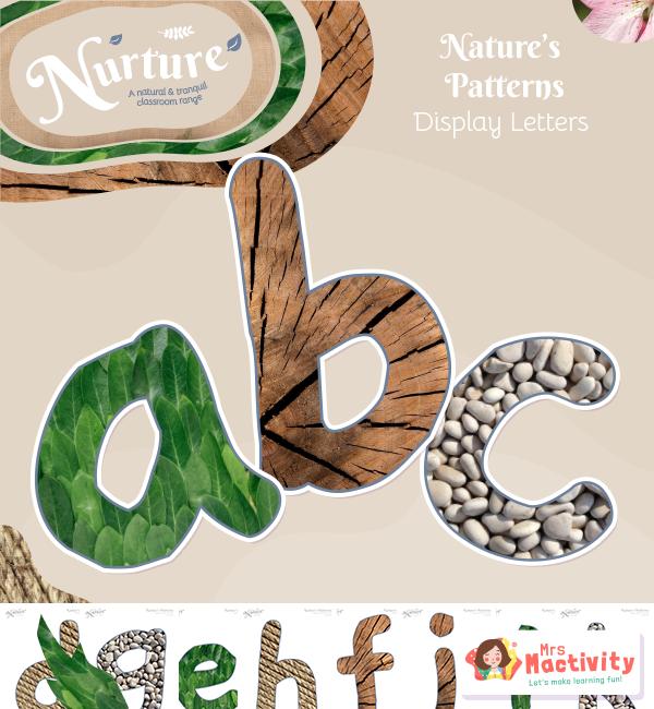 Display Nuture Alphabet Textures Lwr case V2