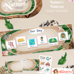 Display Nurture Visual Timetable Board Patterns