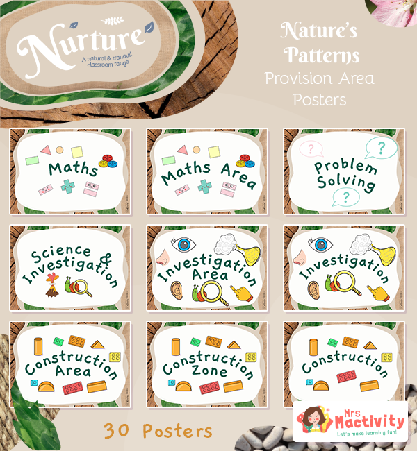 Nurture with Nature Provision Area Posters