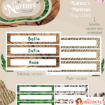 Nurture with Nature Editable Tray Labels