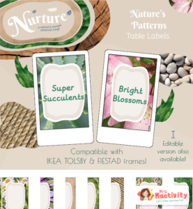 Nurture with Nature Editable Table Group Name Labels - Tolsby/Finstad