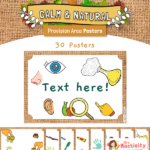 Calm and Natural Blank Editable Provision Area Posters With Pictures