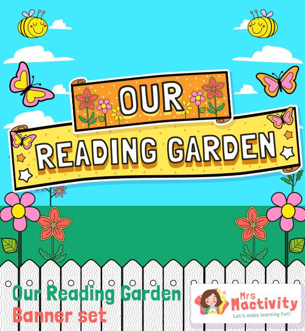 reading garden display banner