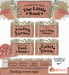 The Reading Nook Display Signs