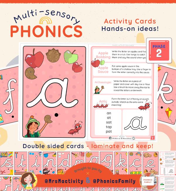 Phonics Family Phase 2 activity cards