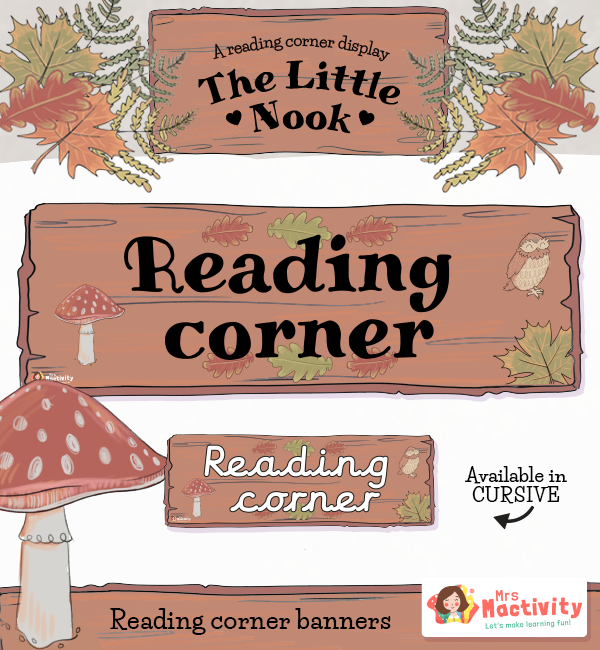 The Reading Nook Reading Corner Display Banners