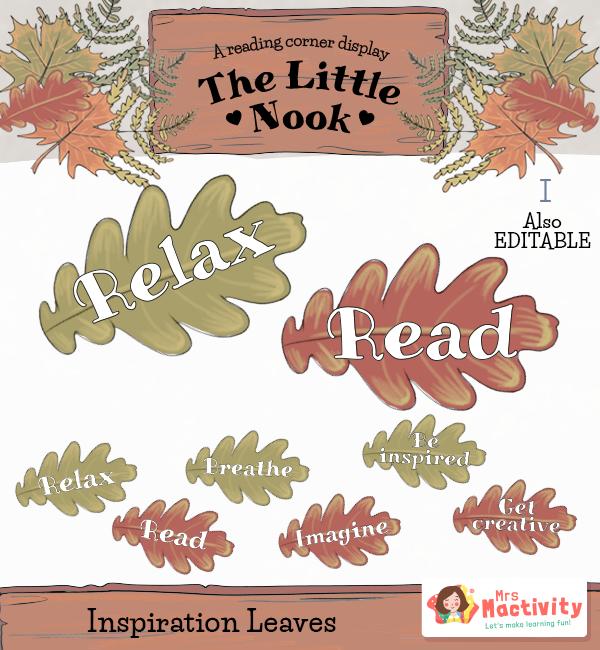 Little Nook Display Inspiration leaves WORDS