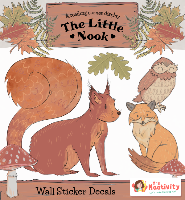 Little Nook Display Animal Wall stickers decals