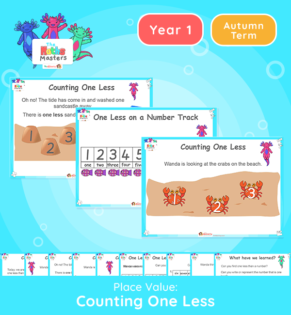 Year 1 | Count One Less Lesson Presentation