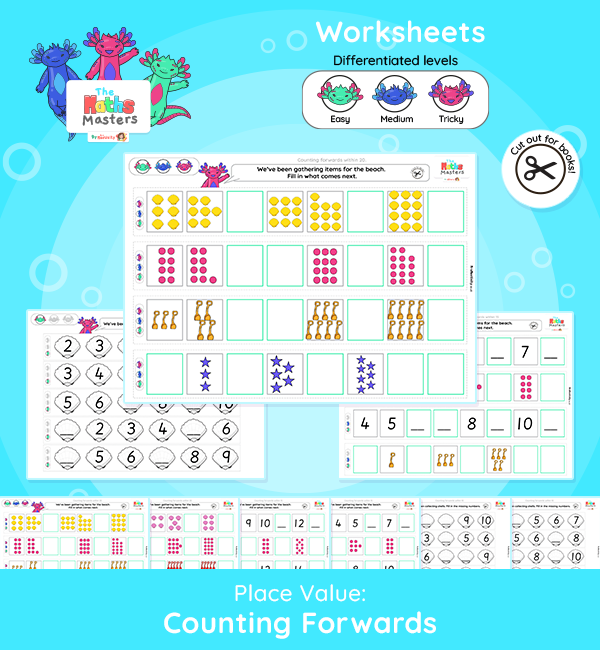 Yr 1 Aut 1 Place value Counting Forwards Worksheets 3