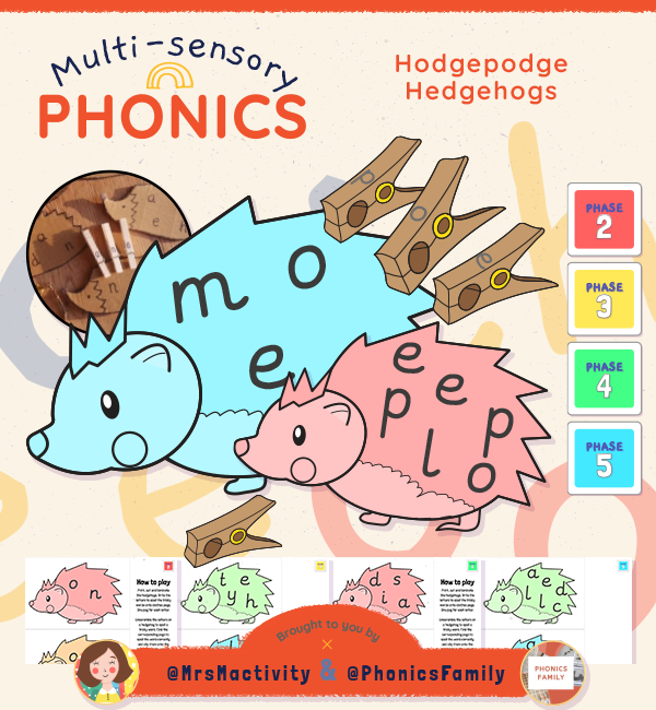 Phonics Family Hodgepodge Hedgehogs ALL PHASES 2