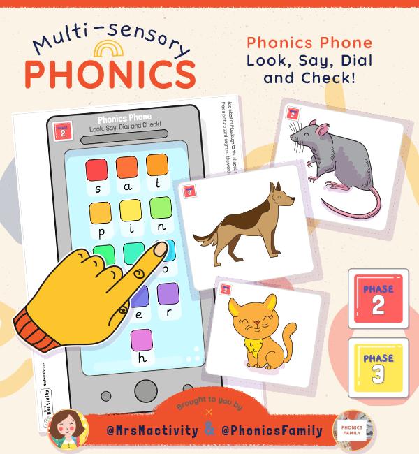 Look, Say, Dial and Check Phonics Activity | Phonics Family Range