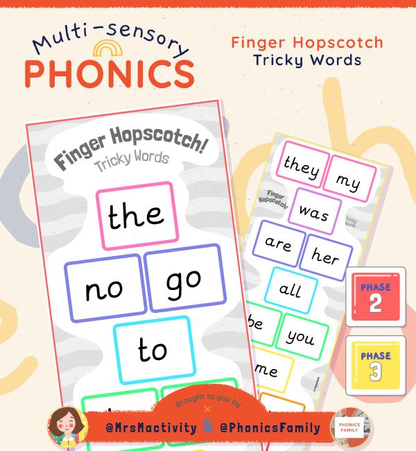 Tricky Words Finger Hopscotch Activity | Phonics Family Range