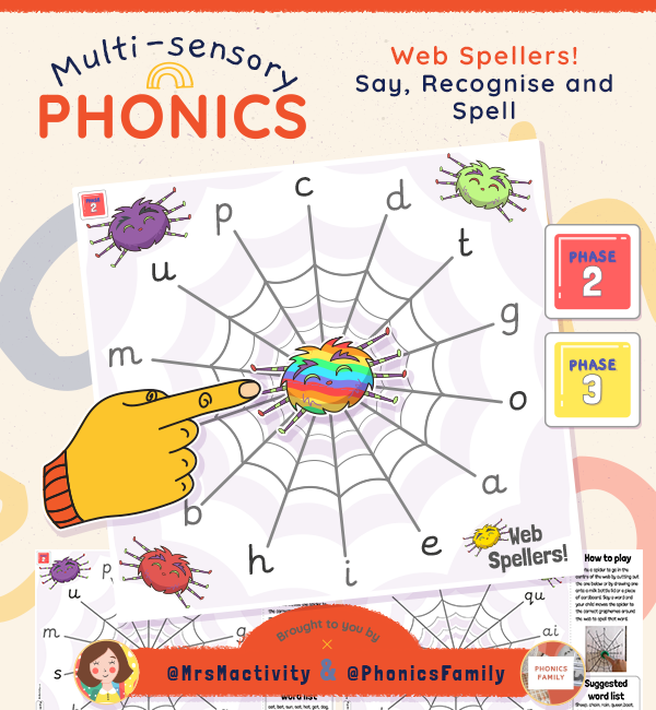Web Spellers Phonics Activity | Phonics Family Range