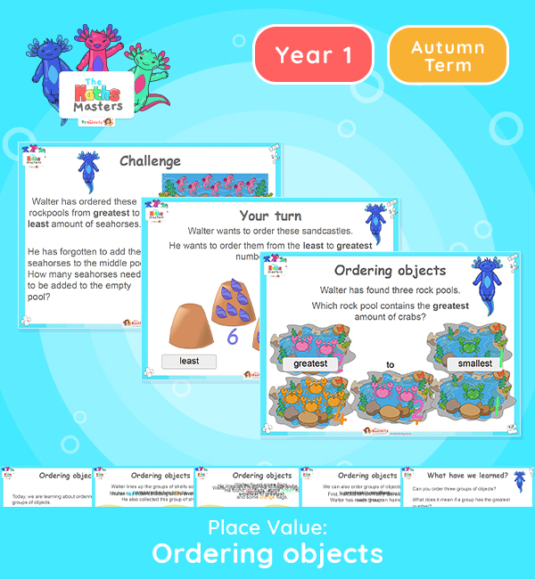 Year 1 | Ordering Objects Lesson Presentation
