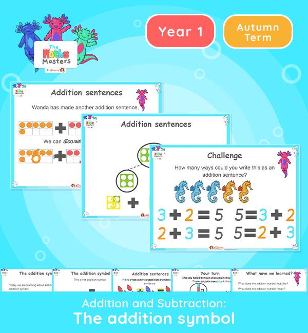 Year 1 | The Addition Symbol Lesson Presentation