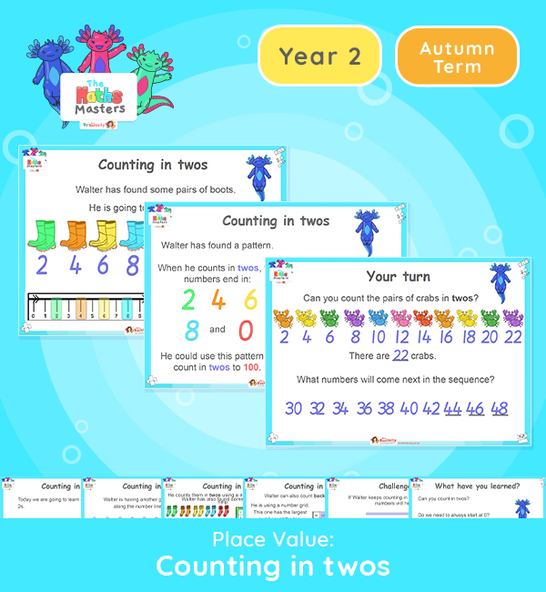 Year 2 | Counting in 2s Lesson Presentation
