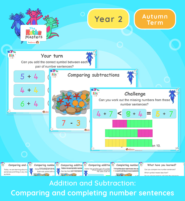 Year 2 | Comparing Number Sentences Lesson Presentation