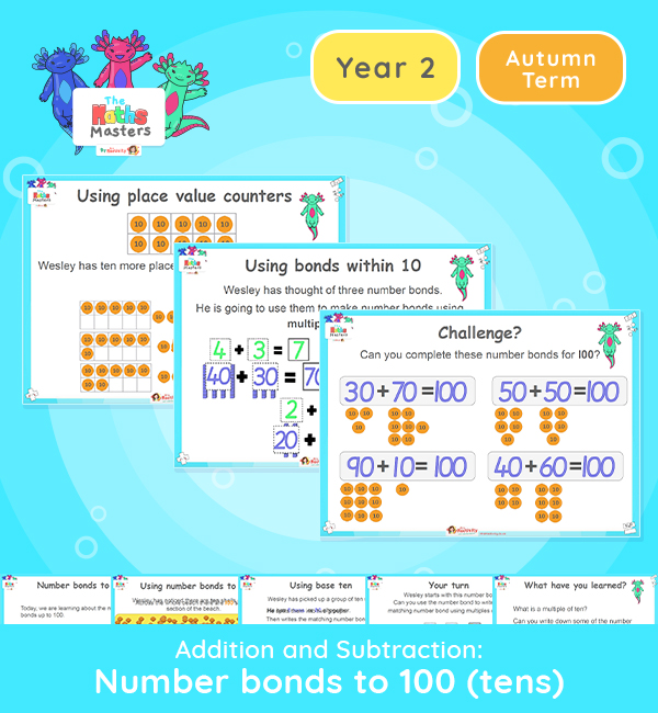 Year 2 | Number Bonds to 100 Lesson Presentation