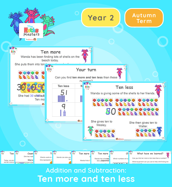 Year 2 | 10 More and 10 Less Lesson Presentation