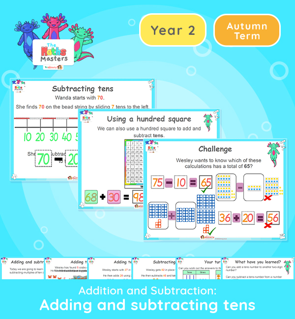 Year 2 | Add and Subtract Tens Presentation
