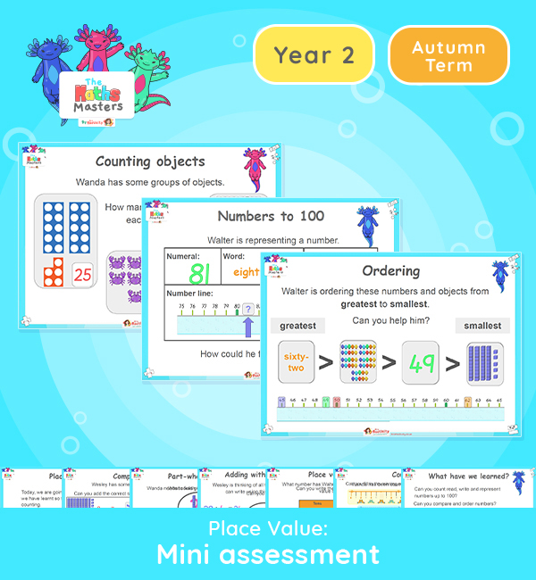 Year 2 | Place Value Mini Assessment Lesson Presentation