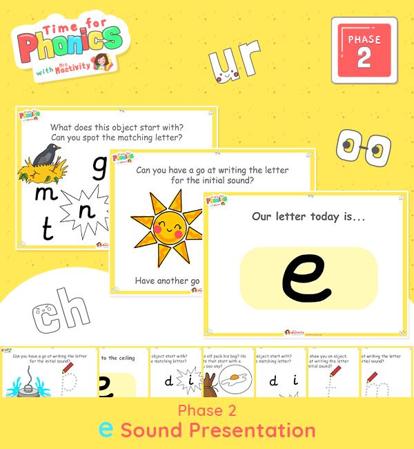Phase 2 Phonics Lesson Presentation | E Sound