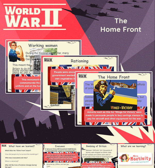 Home front KS2 teaching resources