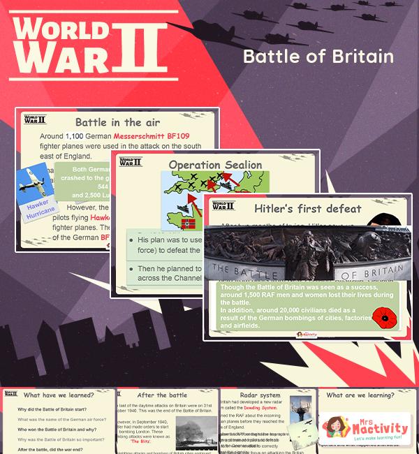 The Battle of Britain World War 2 Lesson Presentation