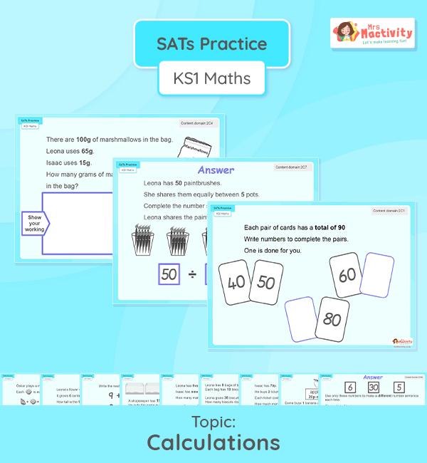 KS1 SATs Calculations Reasoning Practice Presentation