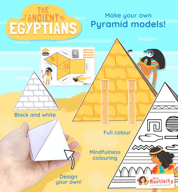Ancient Egyptian Pyramid Craft Template