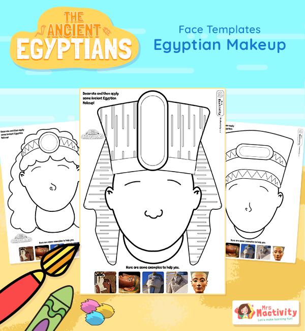 Ancient Egyptian Make-up Activity Sheets