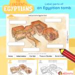 Ancient Egypt Label a tomb activity 2