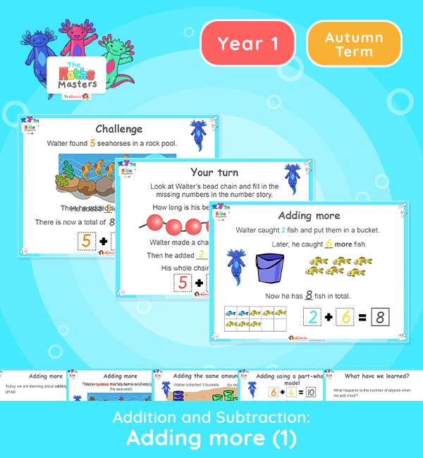 Year 1 | Adding More Part 1 Lesson Presentation