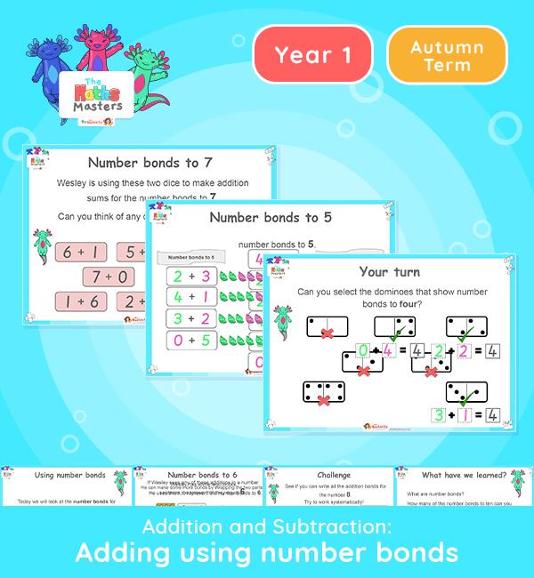 Year 1 |Adding Using Number Bonds Lesson Presentation