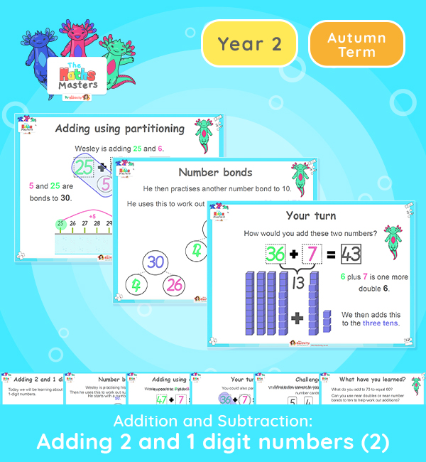 Year 2 | Adding 2 and 1 Digit Numbers Part 2 Lesson Presentation