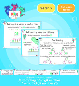 Year 2 | Subtracting a 1 Digit From a 2 Digit Number Lesson Presentation