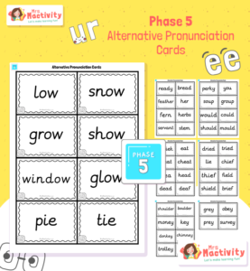 Phonics Phase 5 Alternative Pronunciation Cards