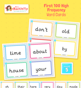 Phase 5 High Frequency Word Cards