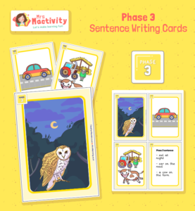 Phase 3 Sentence Writing Prompt Cards