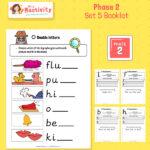 Phonics Phase 2 Booklet Set 5