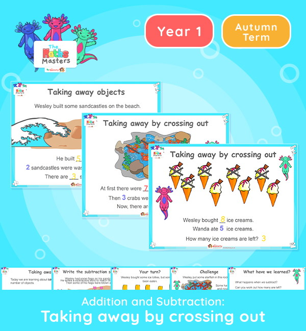 Year 1 | Taking Away by Crossing Out Lesson Presentation