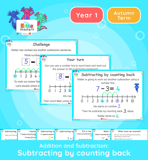 Year 1 | Subtraction by Counting Back Lesson Presentation