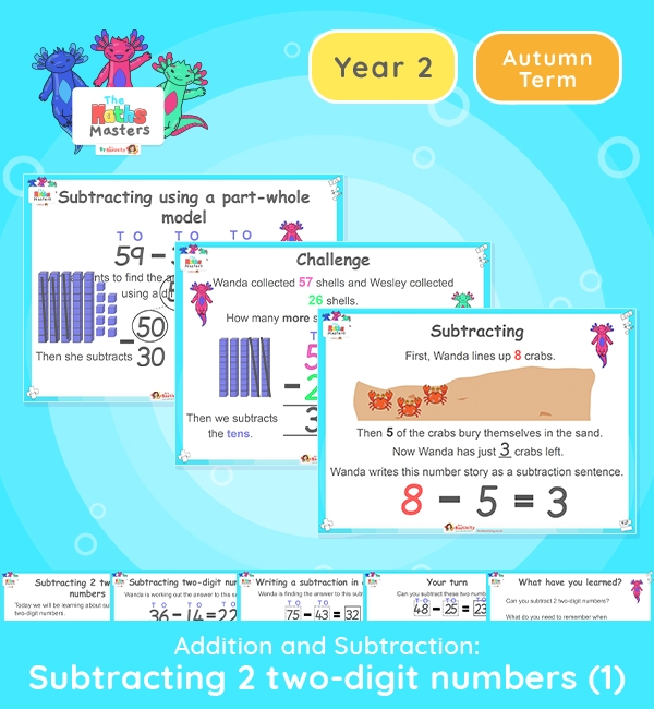 Year 2 | Subtracting 2 Two-Digit Numbers Lesson Presentation